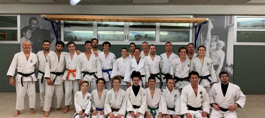 Esami di passaggio di grado e allenamento con giapponese